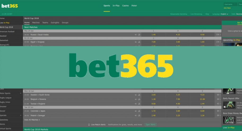 Bet365 betting sites
